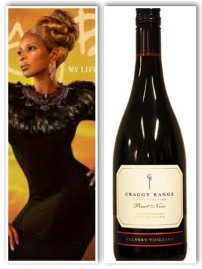 The music and the wine: Mary J Blige's music ushered in a new era of R&B back in the day, much like New Zealand is doing for Pinot Noir today. These wines have smoky notes to them just Blige's music, but they are also complex and delicate, like her lyrics- poetry.
